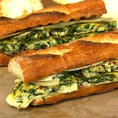 Mario Batali's Frittata Sandwiches - the chew - ABC.com.   This looks like an amazing sandwich for a summer dinner