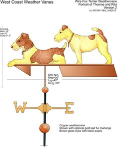 Thomas & Rita our wire fox terriers WEST COAST WEATHER VANES