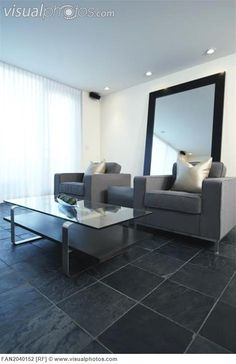 Slate Tiled Living Room