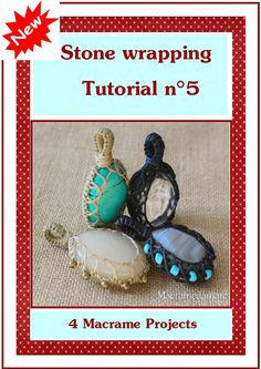 New Macrame stone wrapping Tutorial n 5 by Macramedamare on Etsy