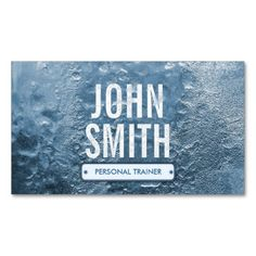 Ice Age Bold Text Personal Trainer Business Card