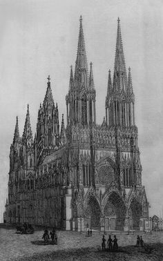 Cathedral Architecture, Gothic Architecture, Architecture Design, Building Sketch, Building Drawing, Architecture Drawing Sketchbooks, Gothic Windows, City Drawing, Minecraft Architecture