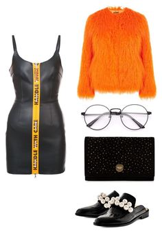"""Untitled #2344"" by dani-gracik ❤ liked on Polyvore featuring Topshop, Heron Preston, Pokemaoke and Jimmy Choo"
