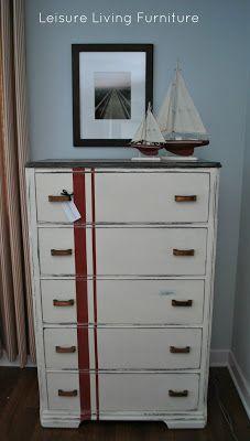 leisure living: Red Stripes :: Dresser Makeover