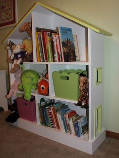 DIY Dollhouse bookshelf, if only I knew anything about carpentry.