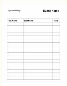 Potluck Sign Up Sheet Template Word | Marketing | Pinterest | Free ...