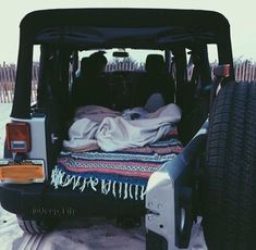 road trip set up. Sleeping in your car