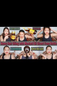 Heavy Hair Oiling For Hair Growth | Hair Oiling With Mustard Oil Direct From Bottle | Combing, Braid Dry Curly Hair, Hair Massage, Mustard Oil, Fast Hairstyles, Hair Growth Oil, Hair Oil, Fall Hair, Braids, Bottle