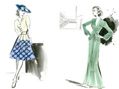 Allied sketches - love the fit and flare button up dress