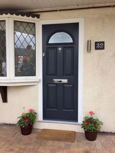 Endurance Doors - Eiger - Anthracite Grey RAL 7016 & Ryterna Flush slick garage door with Front door - Anthracite Grey ... pezcame.com