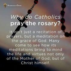 Why do Catholics pray the Rosary?
