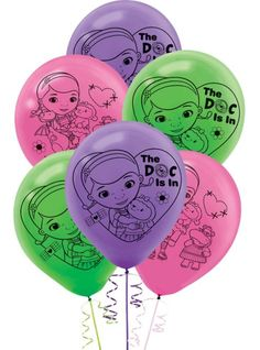 Doc McStuffins Balloons 12in 6ct - Party City