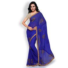 Shree Mira Impex Women's Georgette Saree Sari (Blue) Shree http://www.amazon.in/dp/B01LZN9ZO2/ref=cm_sw_r_pi_dp_x_v0lCyb0J4G030