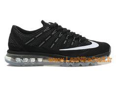 hot sale online da2f2 ed67b Officiel Nike Air Max 2016 Chaussures Nike Running Pas Cher Pour Homme Noir  Blanc 764892