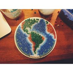 The World hama beads by Cecilie Derlien