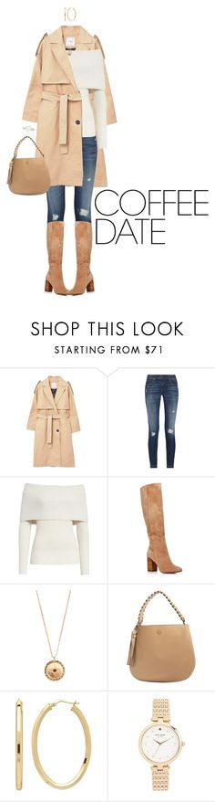 """""""Buzz-Worthy: Coffee Date"""" by ittie-kittie ❤ liked on Polyvore featuring MANGO, rag & bone, Rebecca Taylor, Kenneth Cole, Vanessa Mooney, Tory Burch, Everlasting Gold, Kate Spade and CoffeeDate"""