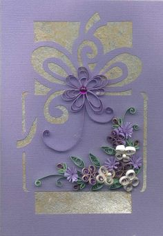 Lovely quilling on card front - by: Lily Stubbs