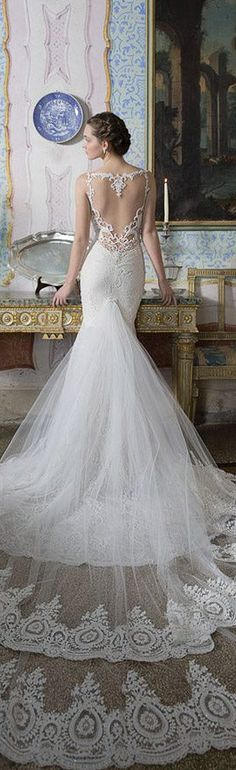 Alon Livne White 2015 Bridal Couture Collection #wedding dress