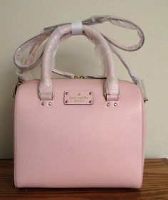 Welcome to the family !!! Isn't she puuurrrty !  KATE SPADE WELLESLEY Berkeley ALESSA Bag Purse ~BALLET SLIPPER Pink Leather -NWT