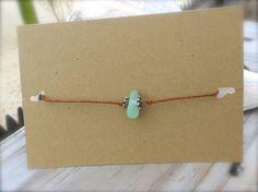 Dainty Sea Glass Bracelet or Anklet  Adjustable Sizing