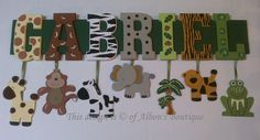 7 LETTER NAME  Custom Jungle Zoo Safari Themed by AlbonsBoutique, $49.00