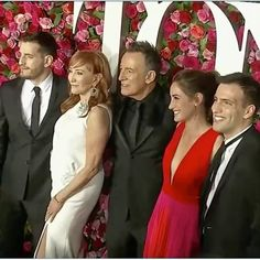 No pointing here, just an iconic First Family at the Tonys. . . . . . . . #brucespringsteen #springsteen #tonyawards #pattiscialfa…