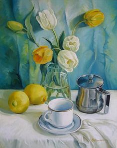 Happy morning Oil painting by Elena Oleniuc Original Artwork, Original Paintings, Happy Morning, Tea Art, Impressionist Art, Tropical Art, Realism Art, Thing 1, Oil Painting On Canvas