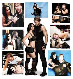 """""""Paige & Dean Ambrose"""" by queenreigns-916 ❤ liked on Polyvore featuring art"""