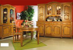 LOIZA - De kwaliteitsvolle, robuuste woonkamercollectie Loiza volgt de stijl van Louis XIV, vervaardigd uit massief eikenhout + fineer | Meubelen Crack