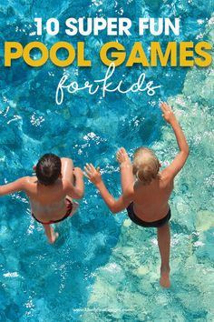 10 Pool Games For Kids & Free Printable Pool Games Kids, Swimming Pool Games, Pool Party Games, Games To Play With Kids, Pool Activities, Beach Games, Free Games For Kids, Kid Pool, Camping Activities
