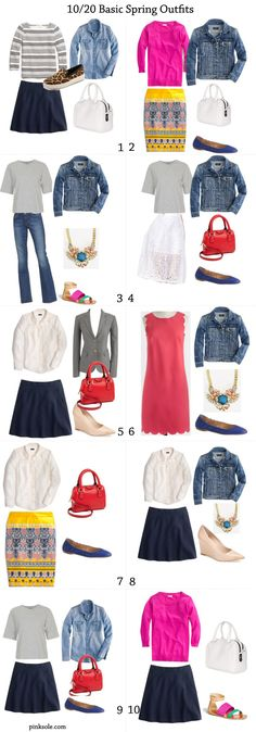 10 basic spring outfits -> more here http://pinksole.com/2014/01/20-basic-spring-outfits/