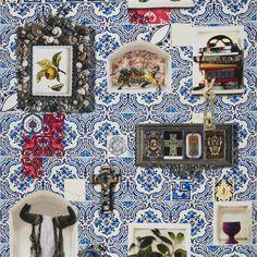 patio - cobalt fabric | Christian Lacroix