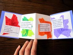 Color poetry book idea - another idea to use with Dr. Seuss's Many Colored Days.