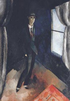 Moïse Kisling (1891-1953)  L'homme devant la fenêtre
