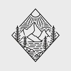 drawing easy drawings mountain simple outdoors cool nature graphic unique adventure sketch travel tattoo