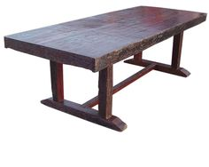 """Rustic dinning table DT15R made from recycled wood. Very heavy and solid 72"""" $1395"""
