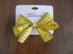 Back to School Ruler Hairbow $1.50 #etsy #backtoschool #bow
