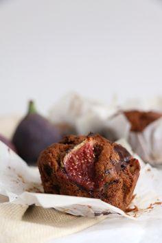 Fig, Walnut and Chocolate Muffins (vegan) - Nirvana Cakery