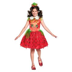 Pin for Later: The 22 Sweetest Shopkins Halloween Costumes For Kids Shopkins Girls Strawberry Kiss Costume Shopkins Girls Strawberry Kiss Costume ($25)