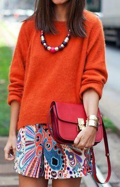 #street #style #ootd #outfit #fashion #orange