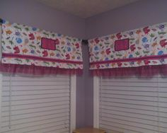 """Valences made to go with Allie's """"An-E-mall"""" blanket."""