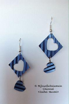 Handmade: Square shaped earrings from by Bijouxfaitalamain13