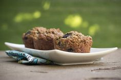 Blueberry Flax Muffins  by foodfanatic