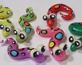 6 Silly Spotted Snakes FIMO and Sculpey