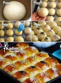 Milky Donut Rezept, wie man – – Sandviç tarifi – The Most Practical and Easy Recipes East Dessert Recipes, Desserts, Donut Recipes, Cooking Recipes, Turkish Sweets, Turkish Kitchen, Tea Time Snacks, Turkish Recipes, Food Design