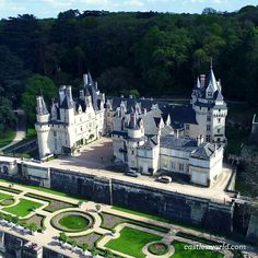 Chateau d'Usse, Loire Valley, France Famed for its picturesque aspect, it was one of several that inspired Walt Disney in the creation of many of the Disney Castles