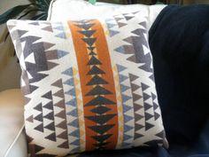 Navajo pillow Pendleton Pillow contemporary primitive by UrbanCamp, $58.00