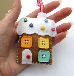 Gingerbread house...cute idea!