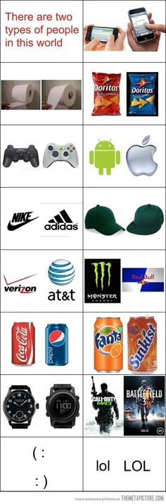 Oh my, SO TRUE.  phone up, cool ranch, xbox, apple, nike, hat on the left, verizon, monster? COKE. FANTA. digital, call of duty? (: LOL