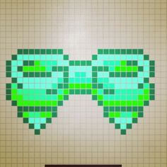 Bow perler bead pattern by rosealine_black